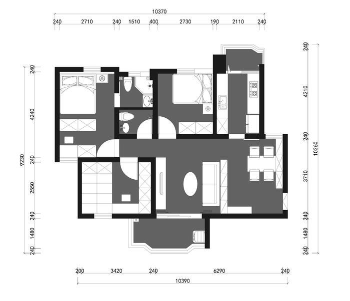 番禺区洛溪如意花园小区四街五幢403施工图-2Model.jpg