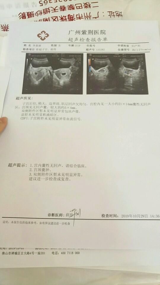 月经已推迟2个月,测出怀孕却没孕囊