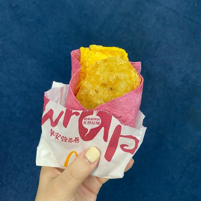 麦当劳早餐新品尝鲜!德式图灵根香肠