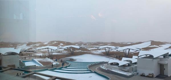 雪地與沙漠交融,12月帶娃到寧夏沙漠看雪