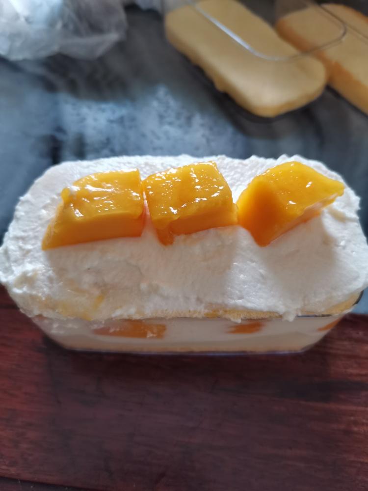 美味芒果奶油盒子蛋糕!清甜又软糯