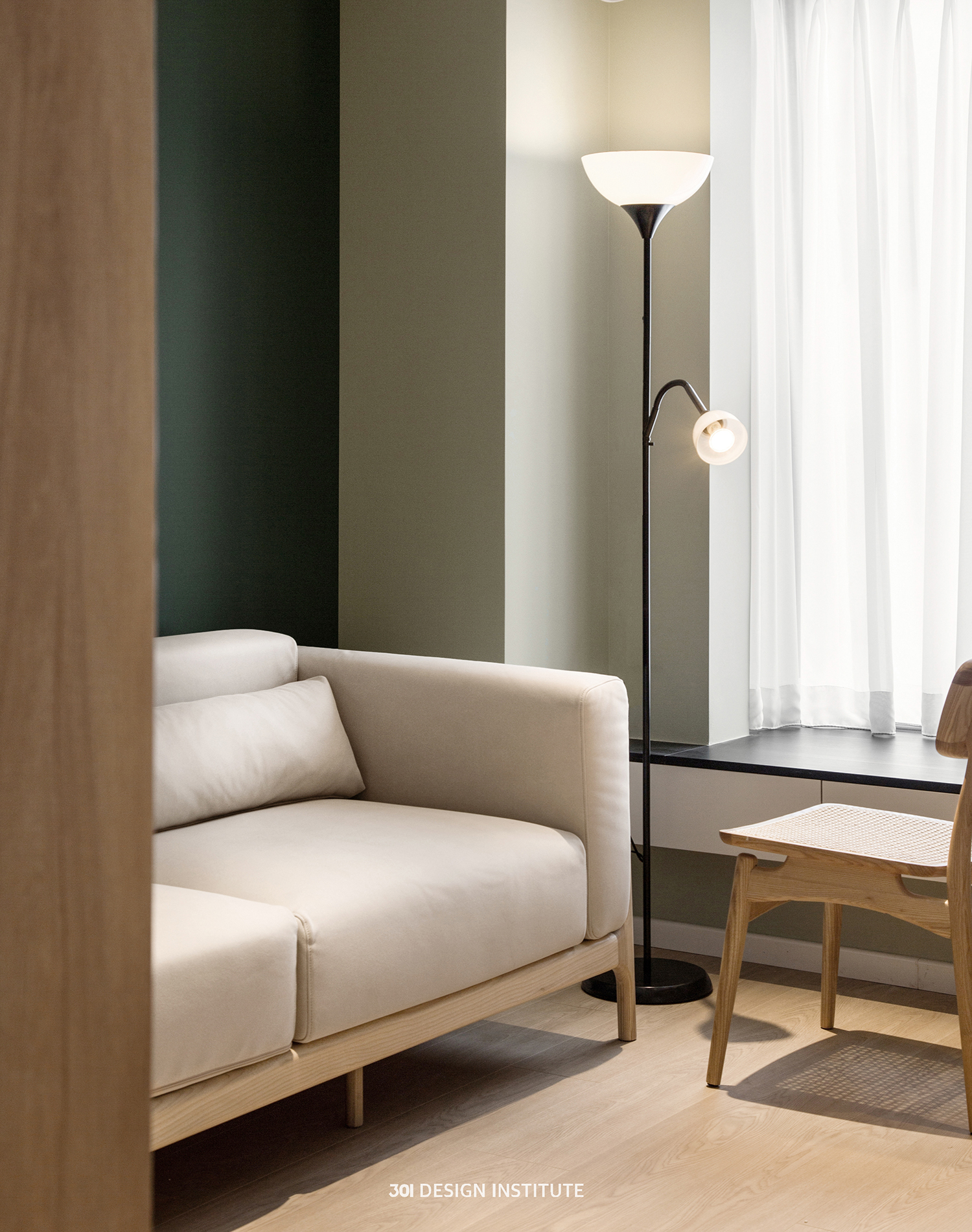 【301设计】| 绿色与木色和谐交融,感受空间的呼吸感